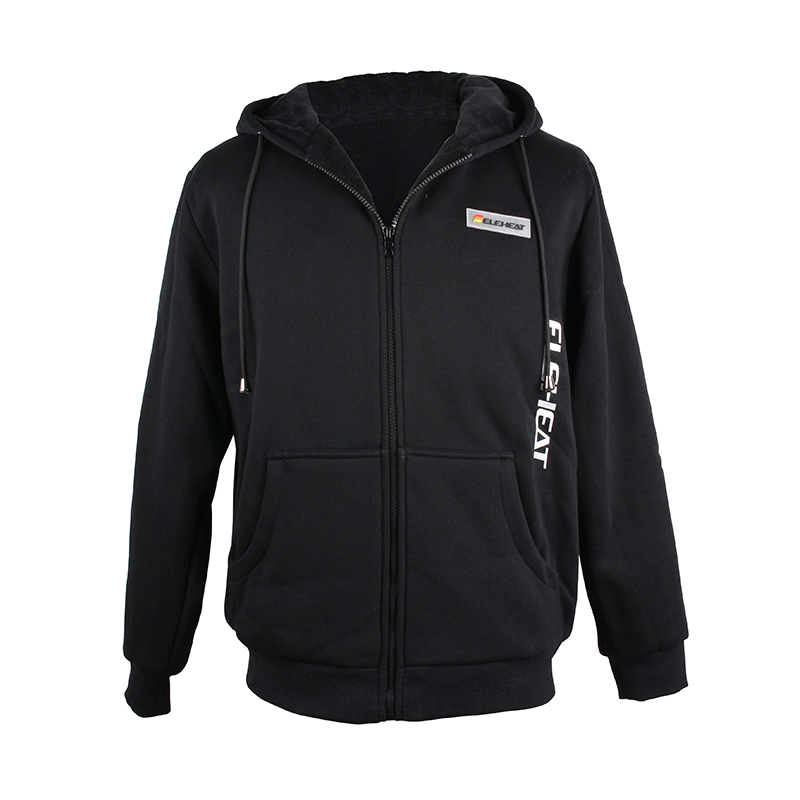 EH-J-016-Heated Full-zip Hoodie black