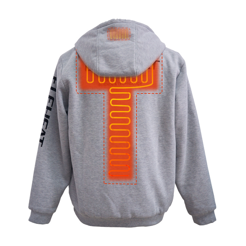 EH-JAC-016-Heated Full-zip Hoodie
